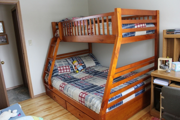 Twin Full Over Queen Bunk Bed With Stairs Plans Image 31