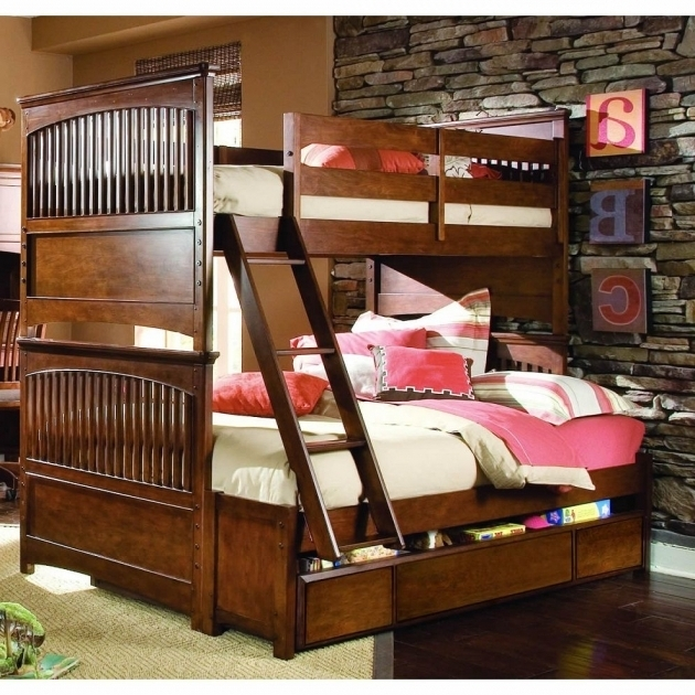Twin Over Bunk Bed With Queen Size Bottom With Stairs Picture 48