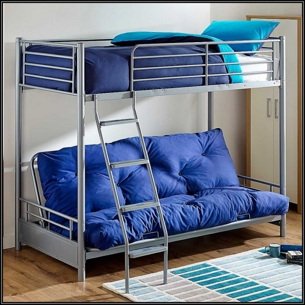 Twin Over Futon Bunk Beds With Mattresses Included For Sale Beds Stair Image 98