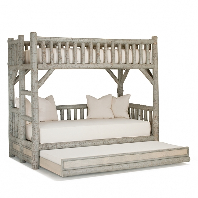 White Rustic Daybed With Trundle 4259R Open  Pictures 77