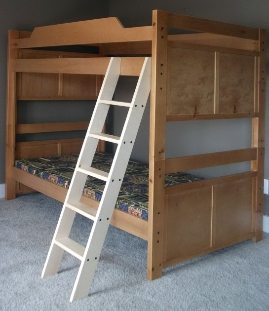Wood Bunk Bed Ladder Only Maxtrix Twin Over Full L Shaped