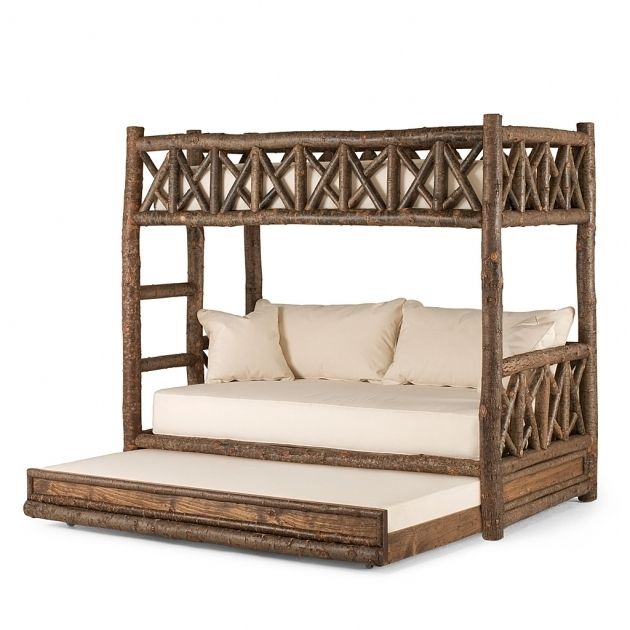 Wood Rustic Daybed With Trundle 4256R  Images 25