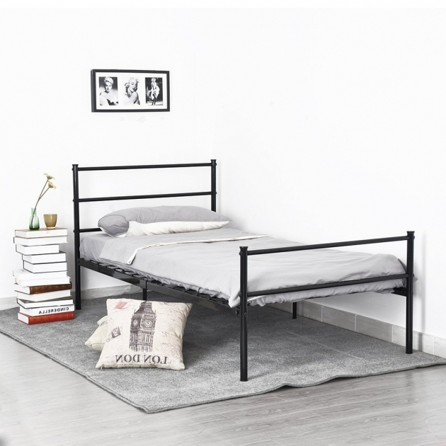 Aingoo Structure Stainless Steel Cheap Metal Bed Frames Single Images 93