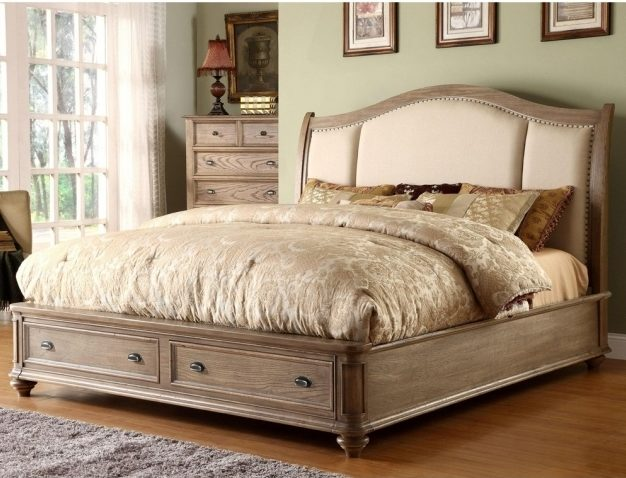 Beautiful King Size Platform Bed With Drawers Image 31