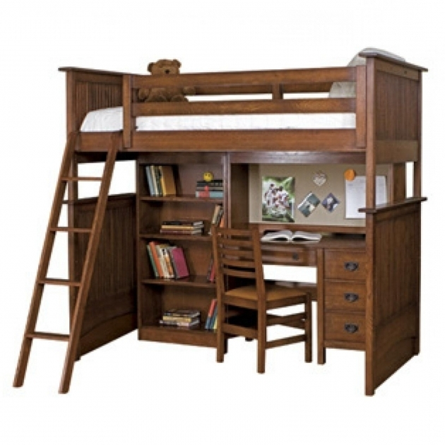 Wood queen bunk bed with desk cheap design ideas photos 26 for Queen bunk bed with desk
