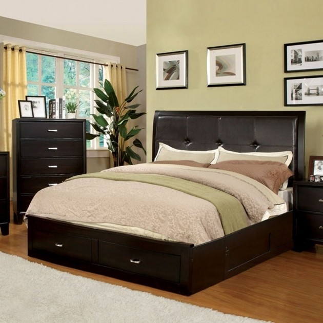 California King Size Platform Bed With Drawers Furniture Of America Enrico Espresso Picture 81