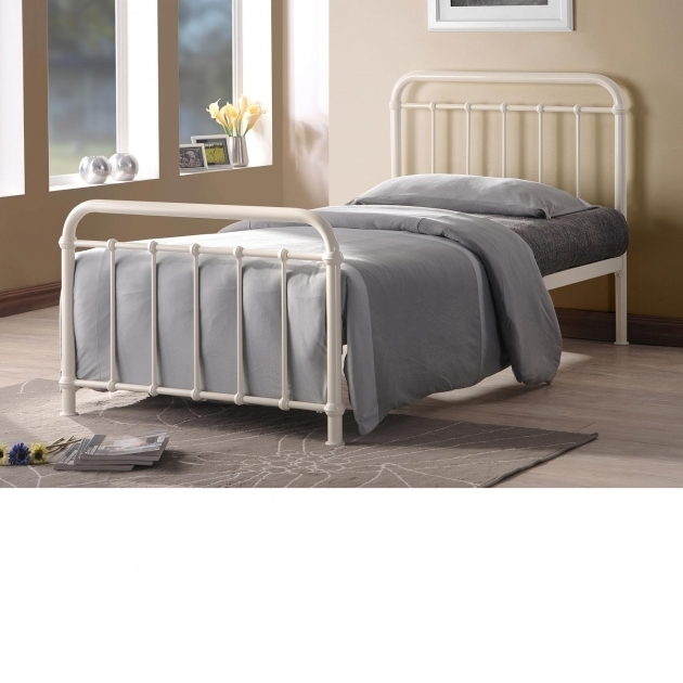 Cheap Metal Bed Frames 3ft Single White Picture 86