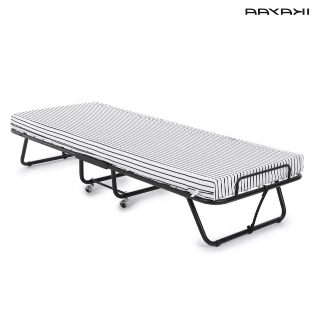 Cheap Metal Bed Frames IKayaa US Stock Metal Folding Bed Image 25