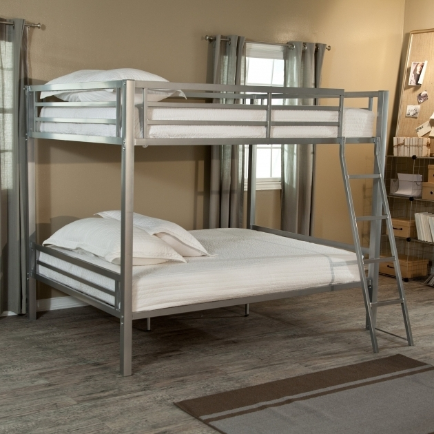 Duro Hanley Metal Bunk Beds Twin Over Full Silver Bunk Bed Pictures 08