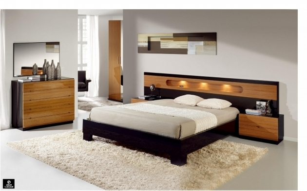 Floating Headboard Queen Bedroom Bed Wooden With Light Beds Wall Mounted With Storage Picture 76