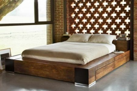 Queen Platform Bed Frame with Storage