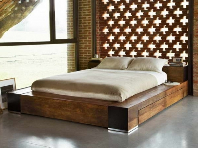 How To Build Queen Platform Bed Frame With Storage Furniture Image 56