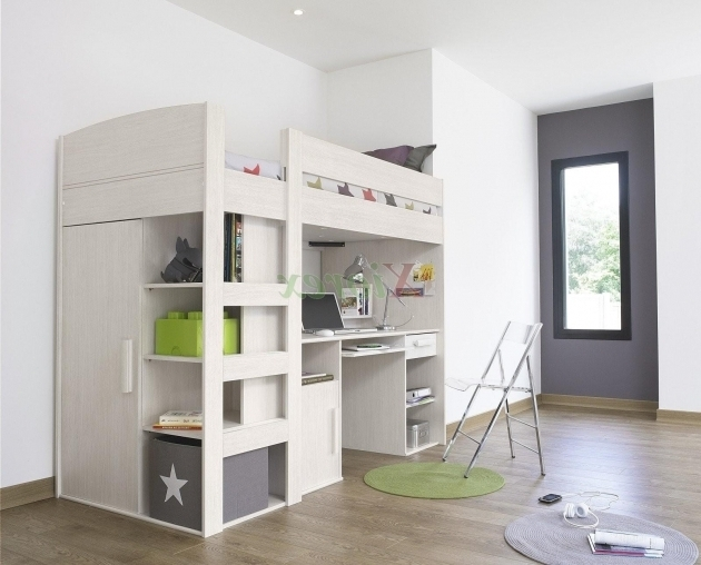 Kids Bunk Bed With Desk Cheap With Stairs And Storage Picture 07