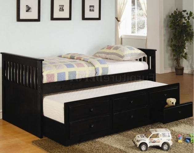 Oak Finish Contemporary Cheap Daybed With Trundle Photo 70