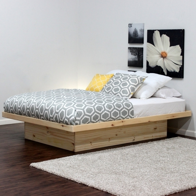 Pine Wood Full Size Box Bed With Drawers Ideas Queen Platform Bed Photo 18