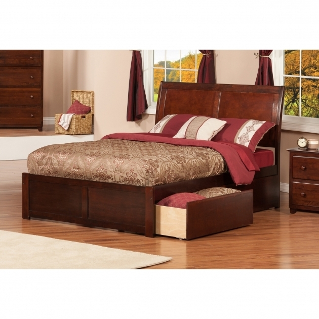 Queen Platform Bed Frame With Storage Modern Wood Frame Material Images 88