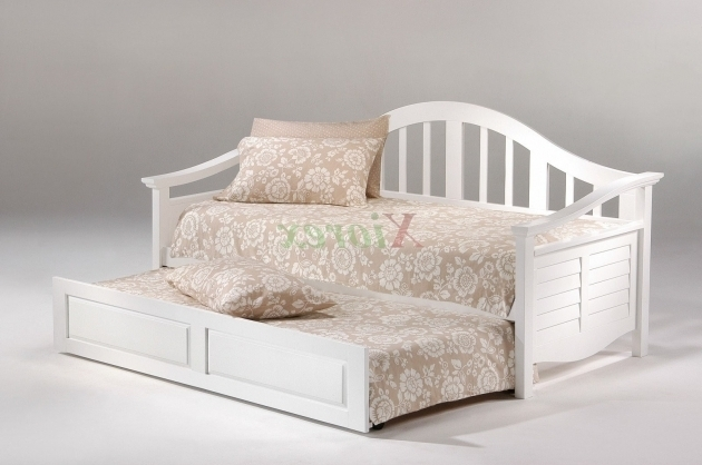 Seagull Cheap Daybed With Trundle Twin Size White Day Bed Images 87