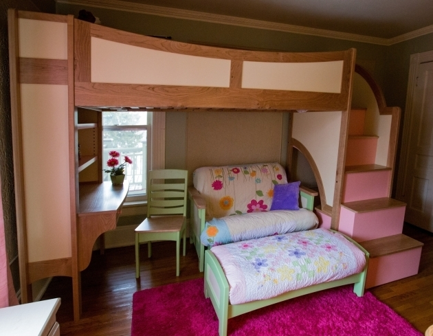 Twin Full Over Bunk Bed With Desk Cheap With Stairs Photo 73