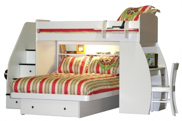 Bunk Bed With Desk Cheap Ikea And Futon Children Trundle