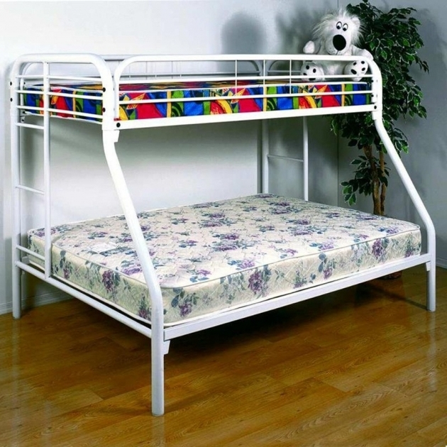 White Metal Bunk Beds Twin Over Full With Mattresses Cheap Photos 77