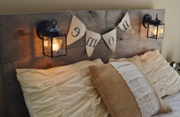 Wood Rustic Headboards For Sale With Black Built In Image 34