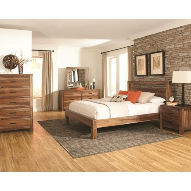 Wooden Cal King Platform Bed Frame Photos 67