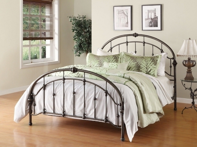 Antique Metal Beds Queen Bronze Iron Arched Victorian Headboard Footboard Frame Photos 01