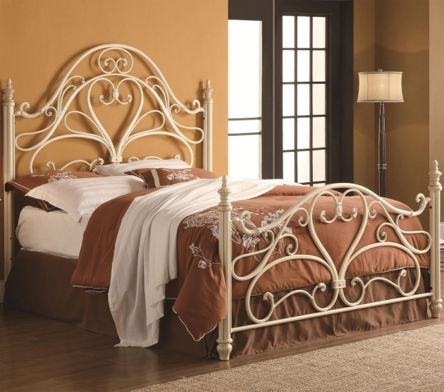 Bed Frame Queen Antique Metal Beds Photo 41