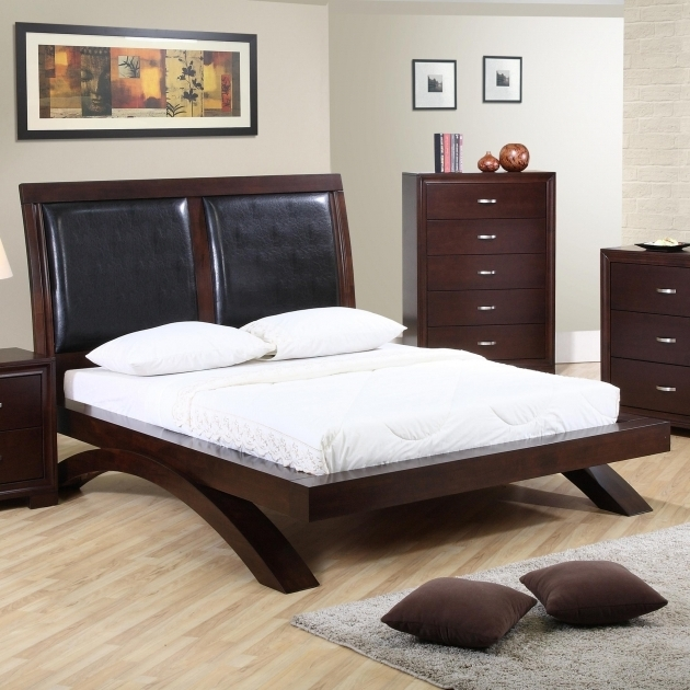 Bedroom Brown Cheap Queen Platform Beds With Headboard Image 47