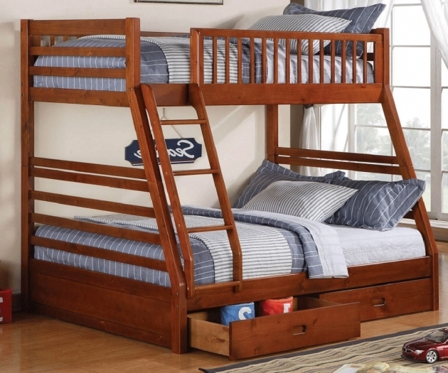 Majestic Twin Full Over Queen Bunk Bed With Storage Images 46