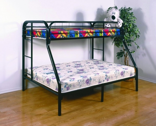 Metal Twin Full Over Queen Bunk Bed Photo 07