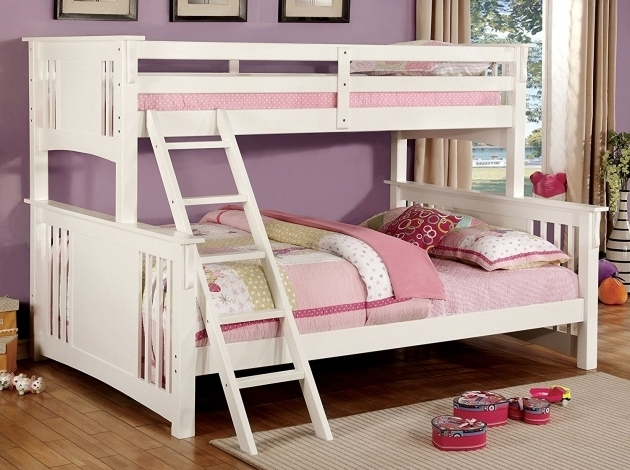 Twin Full Over Queen Bunk Bed White Images 65
