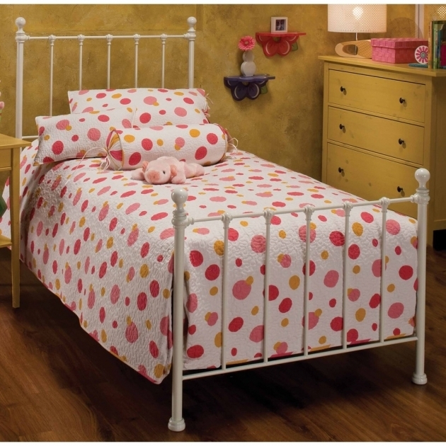 Twin Metal Bed Frame Headboard Footboard For Girls White Design Ideas Image 66