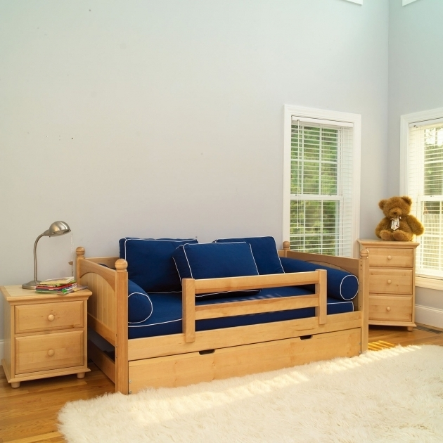 Yeah Slat Daybed For Boy With Guard Rail Kids Beds Images 39