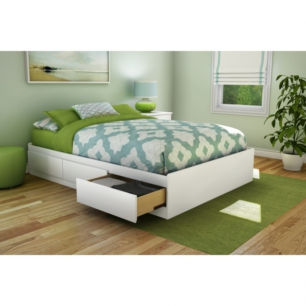 Bedroom Furniture Solid Wood Queen Full Size Platform Bed With Drawers Image 23