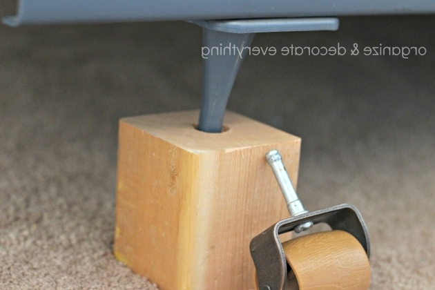 Diy Bed Risers Organize And Decorate Bed Frame Risers Pics 43