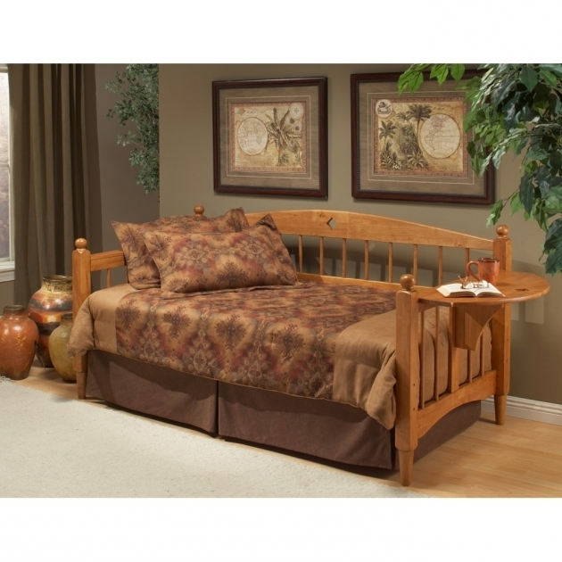 High End Wood Daybed Frame Trundle Bed Medium Oak Pictures 82